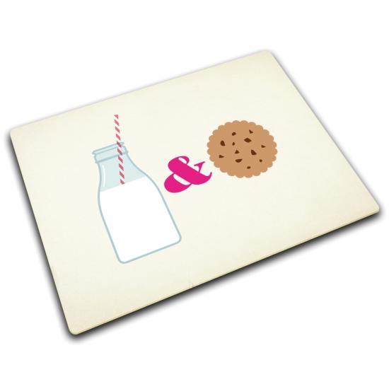 Стеклянная разделочная доска Joseph Joseph Milk & Cookies 1