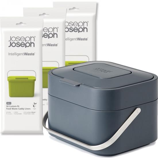 Комплект контейнер + пакеты Joseph Joseph Stack Food Waste Caddy & Liners 4 Litre 1