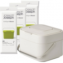 Комплект контейнер + пакеты Joseph Joseph Stack Food Waste Caddy & Liners 4 Litre