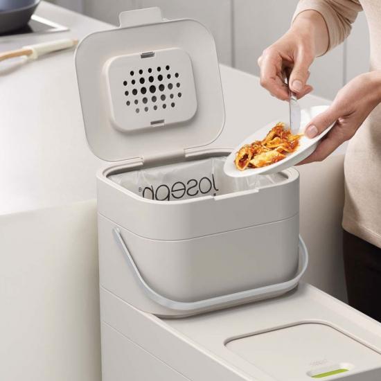 Комплект контейнер + пакеты Joseph Joseph Stack Food Waste Caddy & Liners 4 Litre 5