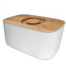 Стальная хлебница с бамбуковой разделочной доской-крышкой Joseph Joseph Steel Bread Bin