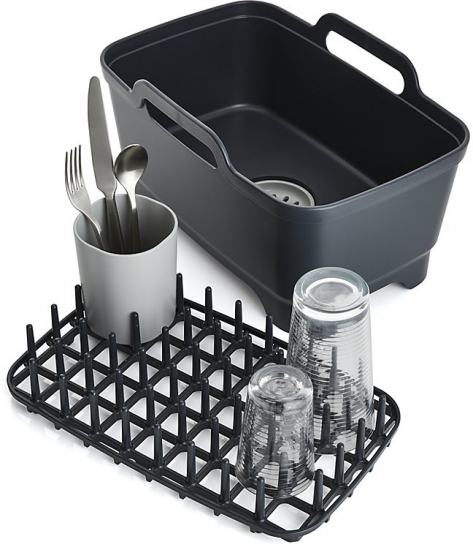 Комплект из 3 предметов для мойки и сушки посуды Joseph Joseph Wash&Drain™ Plus 8