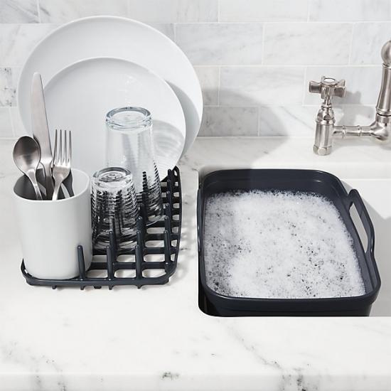 Комплект из 3 предметов для мойки и сушки посуды Joseph Joseph Wash&Drain™ Plus 11