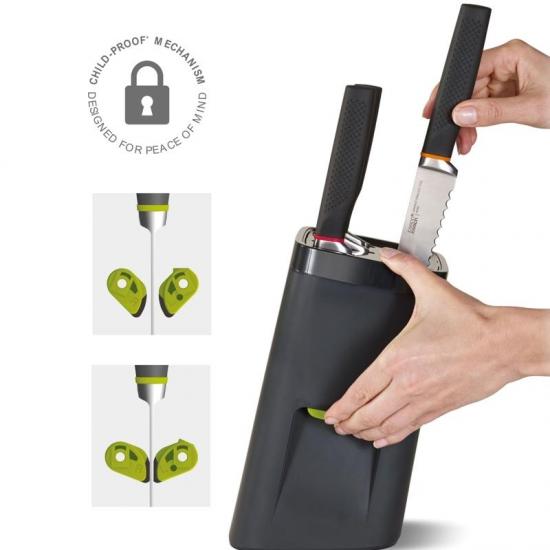 Комплект ножей подставкой с механизмом автоблокировки Joseph Joseph Knife and LockBlock 3
