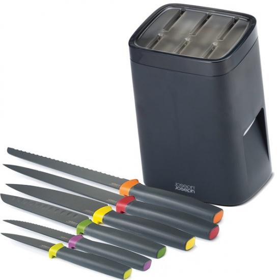 Комплект ножей подставкой с механизмом автоблокировки Joseph Joseph Knife and LockBlock 1