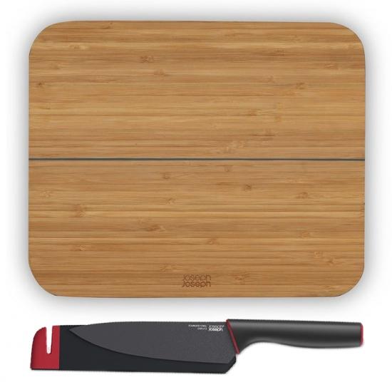 Комплект разделочная доска и нож Joseph Joseph Chop2Pot Bamboo and Slice&Sharpen Knives 1