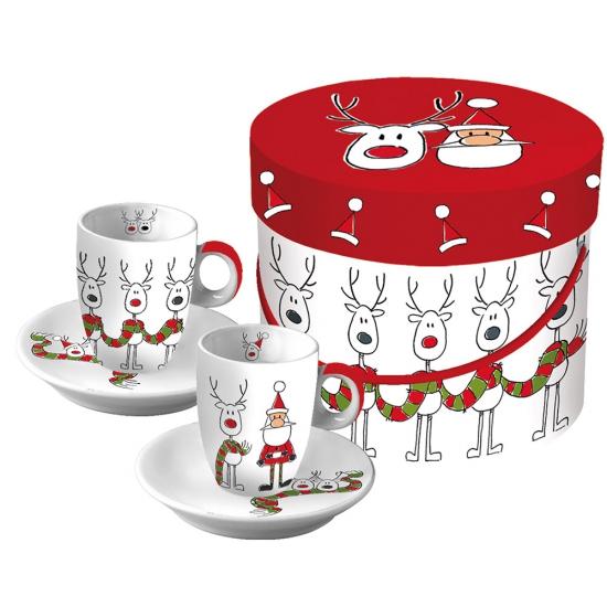 Набор чашек для эспрессо в подарочной коробке Rudi's Scarf 1