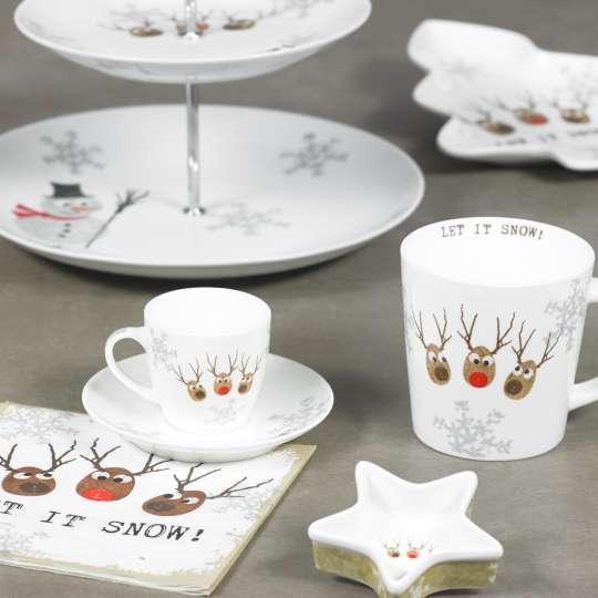 Набор чашек для эспрессо в подарочной упаковке We love Christmas 2