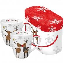 Набор кружек в подарочной упаковке We love Christmas