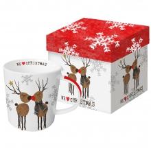 Кружка в подарочной упаковке We love Christmas