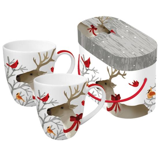Набор кружек в подарочной коробке Deer Friends 1