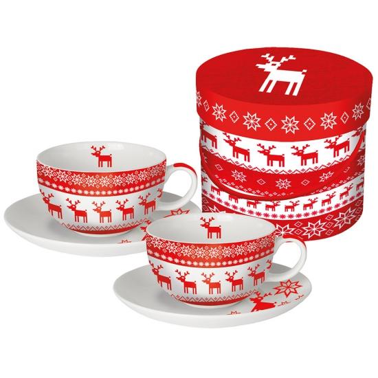 Набор чашек для капучино в подарочной упаковке Magic Christmas 1