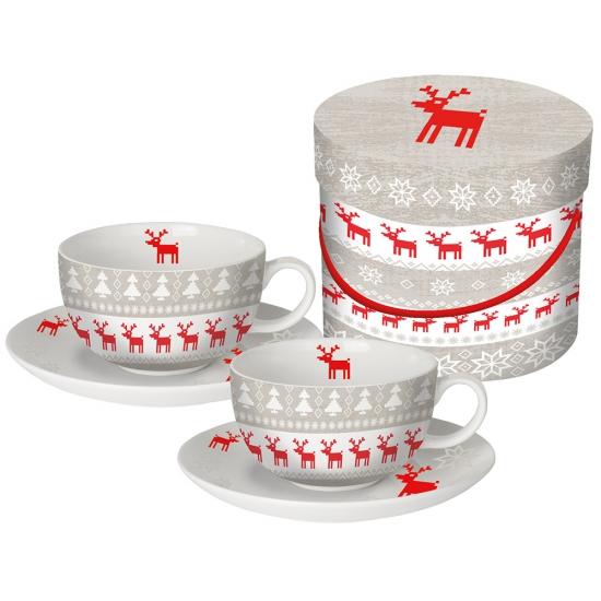Набор чашек для капучино в подарочной упаковке Magic Christmas 2