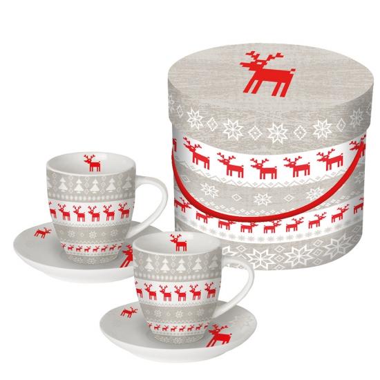 Набор чашек для эспрессо в подарочной упаковке Magic Christmas 2