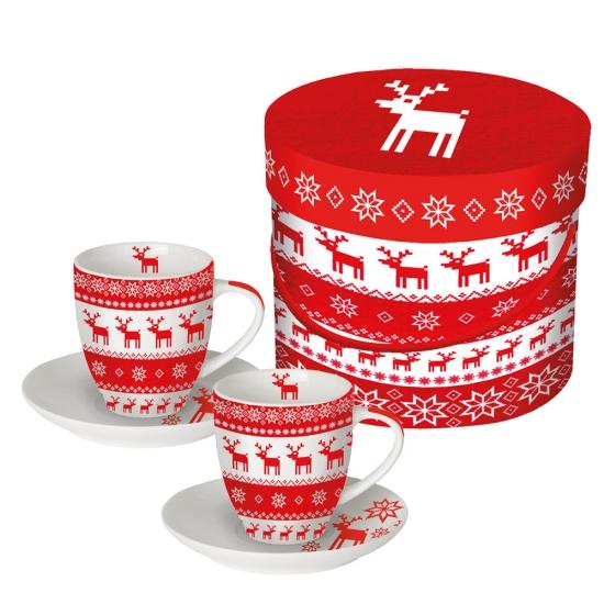 Набор чашек для эспрессо в подарочной упаковке Magic Christmas 1
