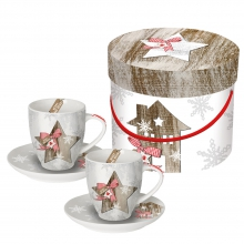 Набор чашек для эпрессо в подарочной коробке Country Xmas