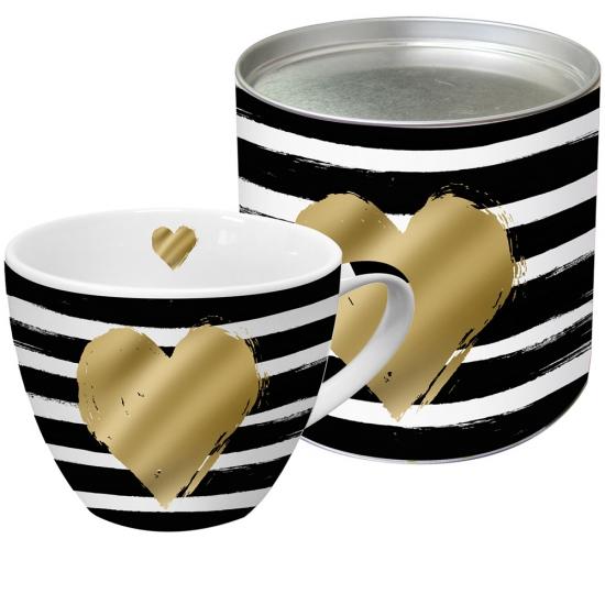 Кружка в подарочной упаковке Heart and Stripes 1