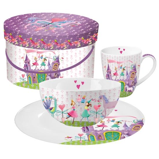 Кружка+миска+тарелка в подарочной коробке Princess Castle 1