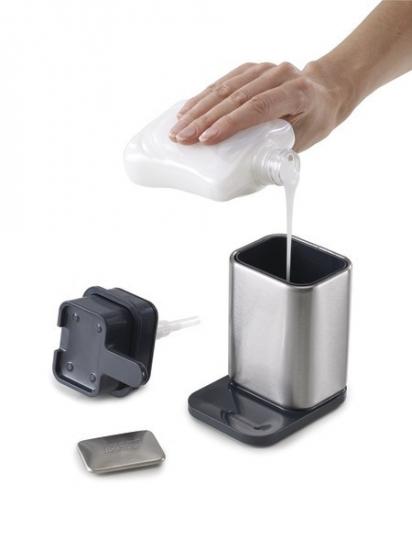 Диспенсер с металлическим мылом Joseph Joseph Surface™ Soap Pump & Bar Set 2