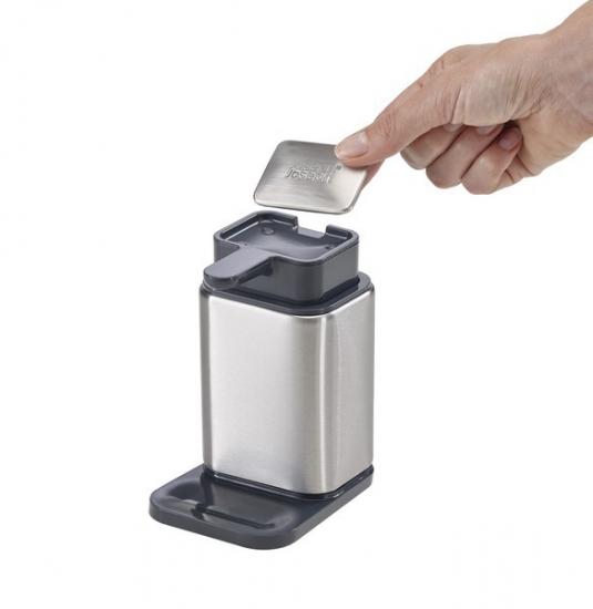 Диспенсер с металлическим мылом Joseph Joseph Surface™ Soap Pump & Bar Set 3