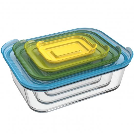 Стеклянные контейнеры для хранения продуктов Joseph Joseph Nest™ Glass Storage Set of 4 1