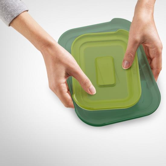 Стеклянные контейнеры для хранения продуктов Joseph Joseph Nest™ Glass Storage Set of 4 2