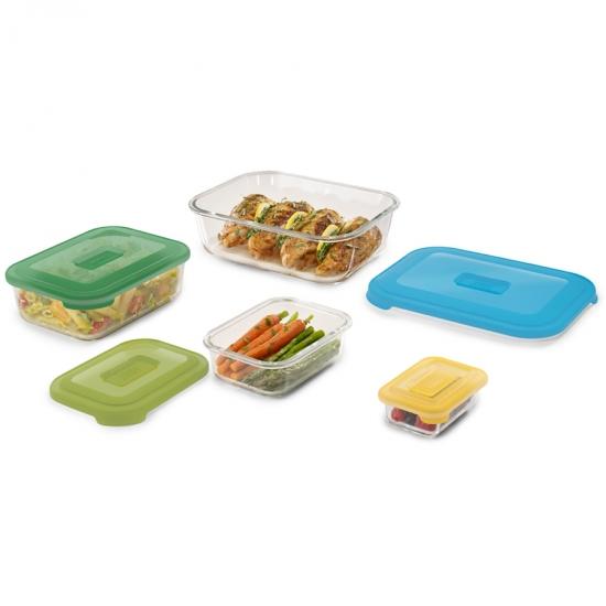 Стеклянные контейнеры для хранения продуктов Joseph Joseph Nest™ Glass Storage Set of 4 6