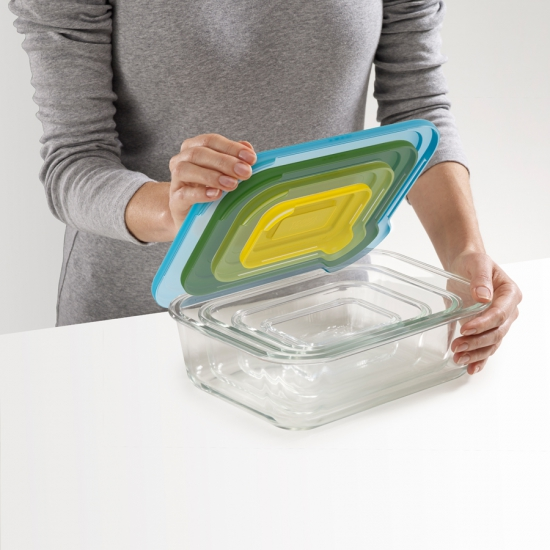 Стеклянные контейнеры для хранения продуктов Joseph Joseph Nest™ Glass Storage Set of 4 4