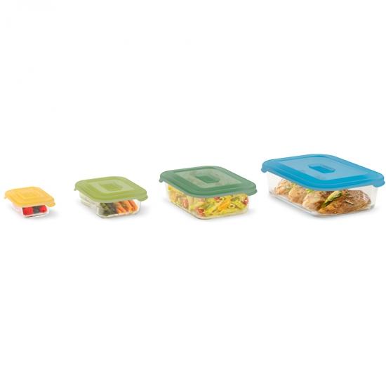 Стеклянные контейнеры для хранения продуктов Joseph Joseph Nest™ Glass Storage Set of 4 7