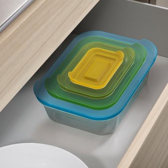 Стеклянные контейнеры для хранения продуктов Joseph Joseph Nest™ Glass Storage Set of 4 5