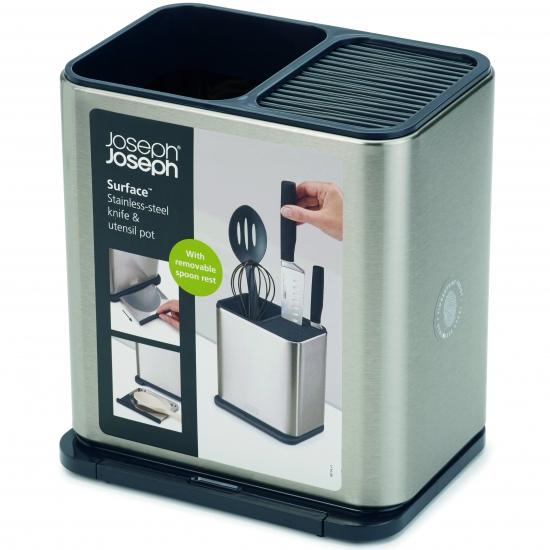 Органайзер для кухонных инструментов Joseph Joseph Surface™ Stainless Steel Knife & Utensil Pot 2