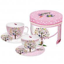 Набор чашек для капучино в подарочной коробке Love Tree