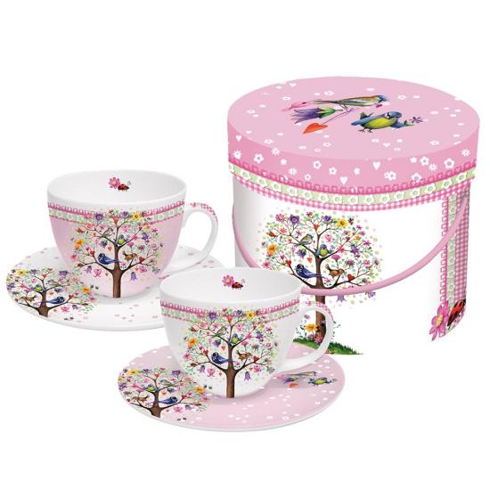 Набор чашек для капучино в подарочной коробке Love Tree 1
