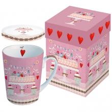 Кружка с крышкой в подарочной коробке Lovely Cake