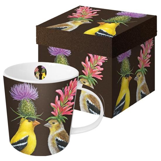 Кружка в подарочной коробке Goldfinch Couple 1