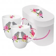 Набор кружек в подарочной коробке Love Birds