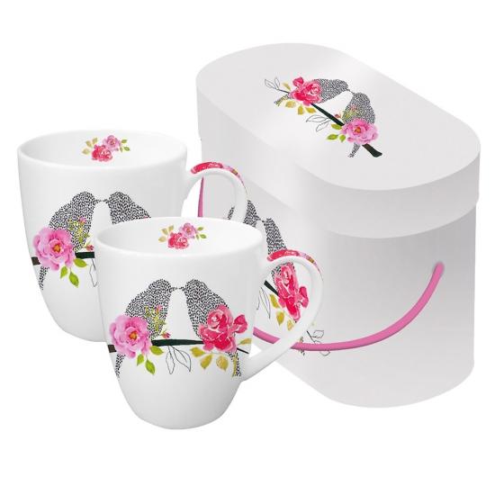 Набор кружек в подарочной коробке Love Birds 1