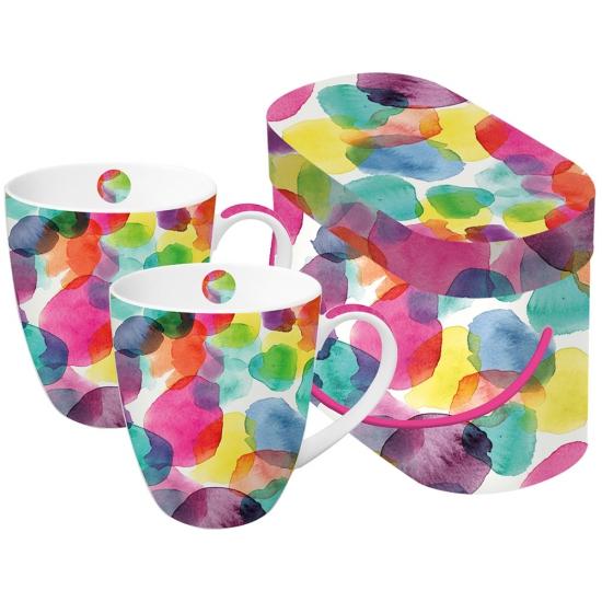 Набор кружек в подарочной упаковке Aquarell Dots 1