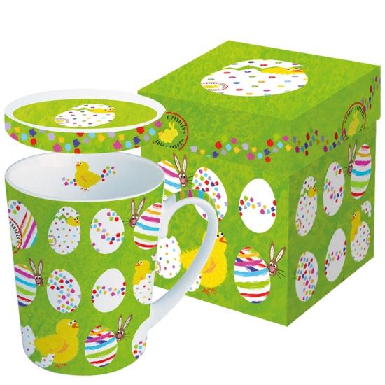 Кружка с крышкой в подарочной коробке Easter Buddies 1