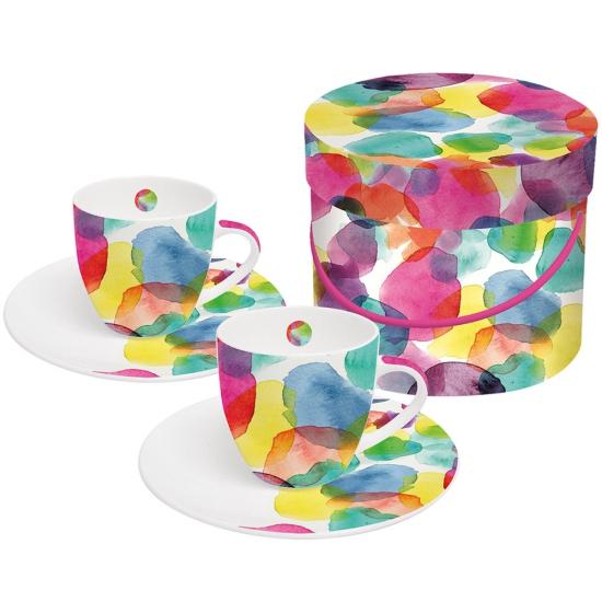 Набор чашек для эспрессо в подарочной коробке Aquarell Dots 1