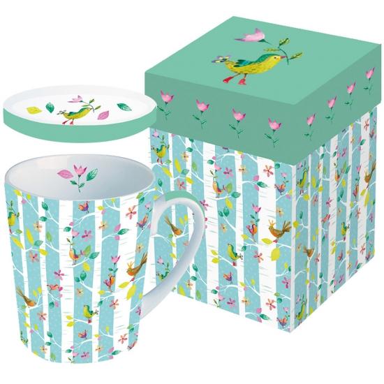 Кружка с крышкой в подарочной коробке Birds Twitters 1