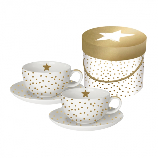 Набор чашек для капучино в подарочной упаковке The Star Money 200 мл 1