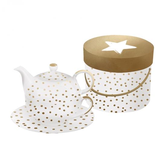 Набор заварник+чашка+блюдце The Star Money 1