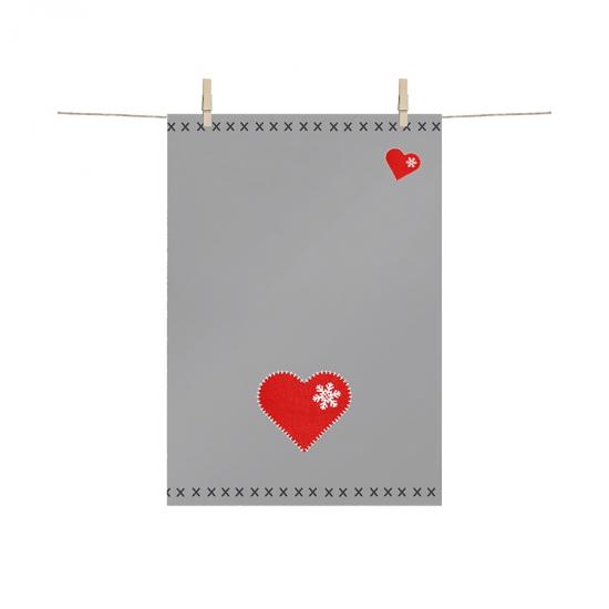 Полотенце кухонное Felt Heart 68x48 см 1