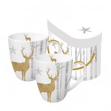 Набор кружек в подарочной упаковке Mystic Deer 350 ml