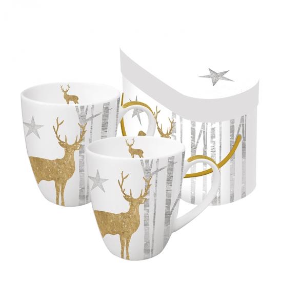 Набор кружек в подарочной упаковке Mystic Deer 350 ml 1