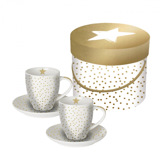 Набор чашек для эспрессо в подарочной упаковке The Star Money 100 ml 1