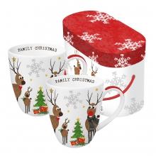 Набор кружек в подарочной упаковке Family Christmas 350 ml