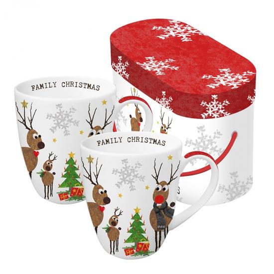 Набор кружек в подарочной упаковке Family Christmas 350 ml 1