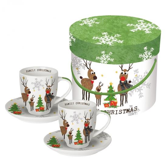 Набор чашек для эспрессо в подарочной коробке Family Christmas 100 ml 1